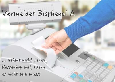 Achtung: Kassenbons enthalten Bisphenol A !