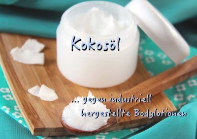 Chemische Bodylotion vs. natürliches Kokosöl